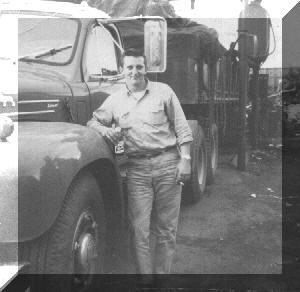 Diesel Gypsy, loading scrap batteries in Quebec City, Quebec, Canada (1964)