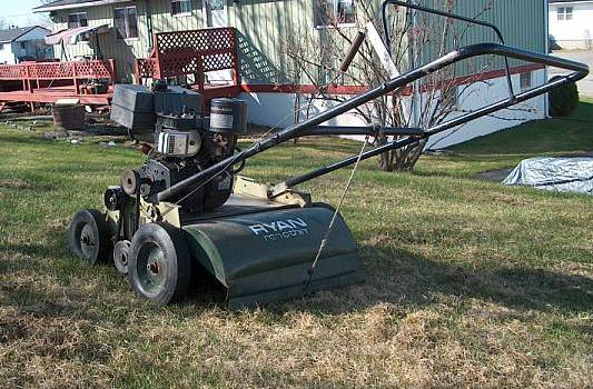 thatch removal machine